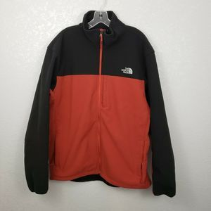 The North Face XXL fleece lined jacket coat red